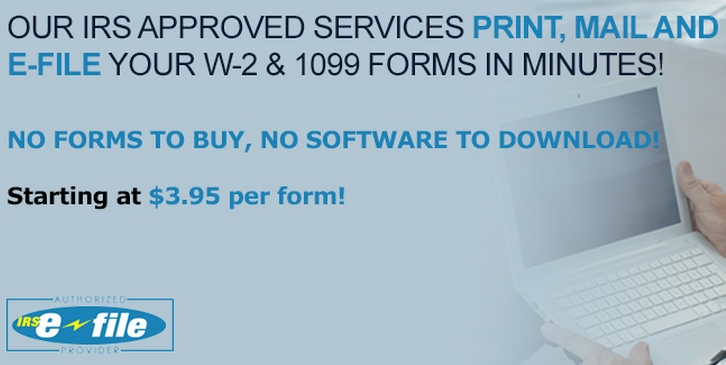 DiscountEfile.com Online Filing for 1099 and W-2 Forms with Efile, Print and Mail Services